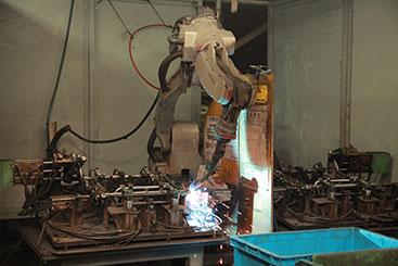 溶接加工~ロボット溶接(CO2AL)、炭酸ガス溶接~